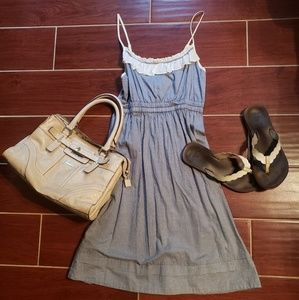 Kimchi Blue and White Checkered Sundress